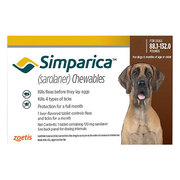 Simparica Chewables For Dogs Above 88 Lbs (Red)