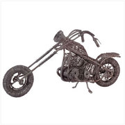 Metal Wire Artist's Motorcycle